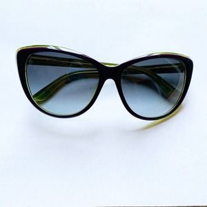 Juicy Couture Cat Eye Sunglasses Purple and Green